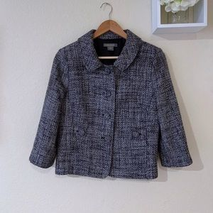 Ann Taylor wool tweed button up jacket